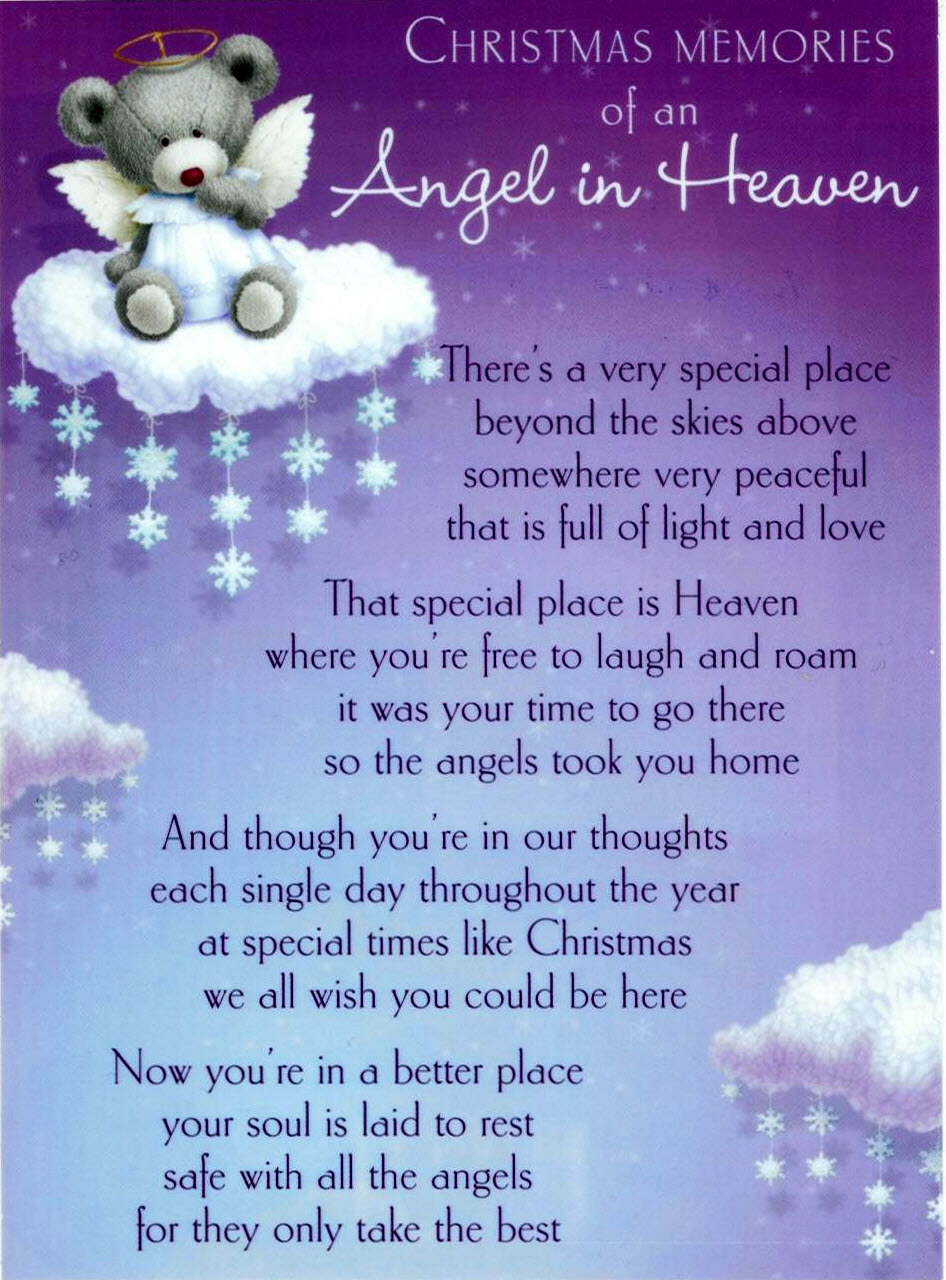 First Birthday in Heaven Quotes http://www.rossireland.com/christmas2009.php